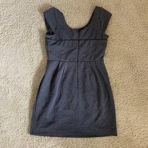 Gray structured work dress